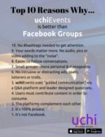 uchiEvents Top 10 vs Facebook